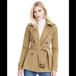 Banana Republic Short Peplum Trench